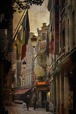 Bruxelles Photograph - Rue Des Bouchers by Joan Carroll