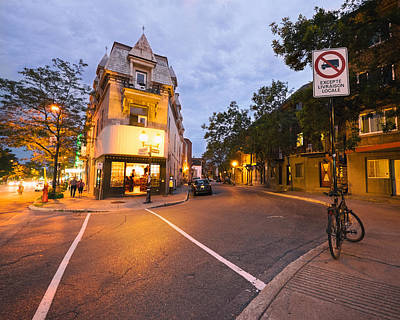 Night Photograph - Rue Saint Denis Montreal by Tanya Harrison