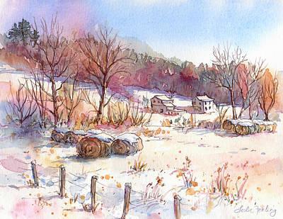 Ruff Creek Winter Print by Leslie Fehling