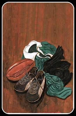 Rugby Print by Sam Mart