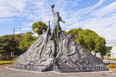 Rugby Photograph - Rugby World Cup Sculpture Wellington New Zealand by Colin and Linda McKie