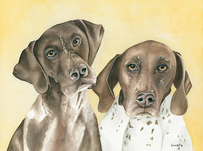Ruger And Daisey   Print by Kimberly Lavelle