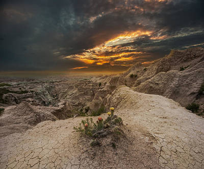 Badlands Photograph - Rugged Beauty by Aaron J Groen