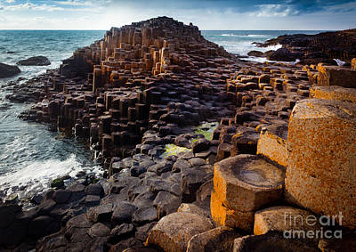 Rugged Giant's Causeway Print by Inge Johnsson