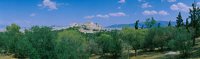 Hilltop Scenes Photograph - Ruined Buildings On A Hilltop by Panoramic Images