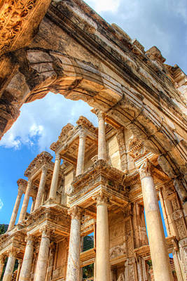 Ruined Library In Ephesus  Print by Laura Palmer