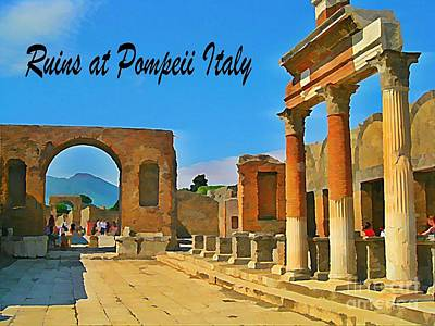 Ruins At Pompeii Italy Print by John Malone