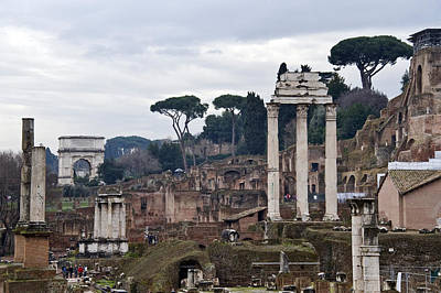 Ancient Civilization Photograph - Ruins Of A Building, Roman Forum, Rome by Panoramic Images