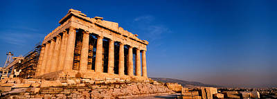 Acropolis Photograph - Ruins Of A Temple, Parthenon, Athens by Panoramic Images