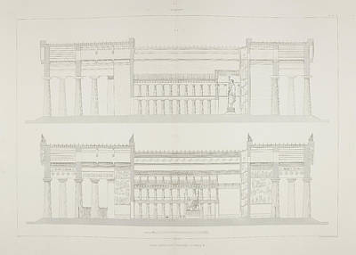 Ruins Of Ancient Sicilian Temple Print by British Library