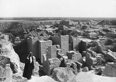 Babylon Photograph - Ruins Of Babylon by Underwood Archives