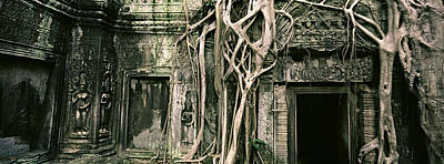 Ancient Civilization Photograph - Ruins Of Ta Prohm Temple, Angkor by Panoramic Images