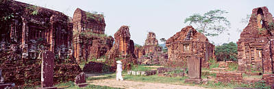 Ancient Civilization Photograph - Ruins Of Temples, Champa, My Son by Panoramic Images