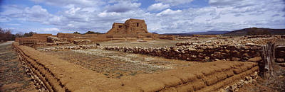 Ruins Of The Pecos Pueblo Mission Print by Panoramic Images