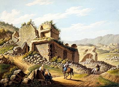 Stadiums Drawing - Ruins Of The Stadium, 1790s by Gaetano Mercati