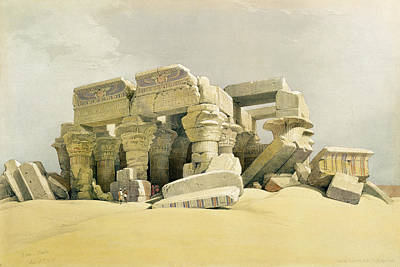 Ruins Of The Temple Of Kom Ombo Print by David Roberts