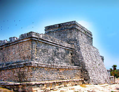 Structure Mixed Media - Ruins Of Tulum Mexico by Design Turnpike