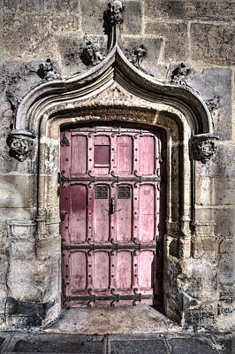 Grate Photograph - Ruins With Red Door by Evie Carrier