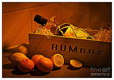 Lemon Digital Art - Rum Box Fine Art by Donald Davis