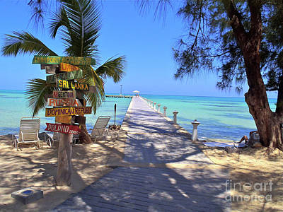 Caribbean Photograph - Rum Point by Carey Chen