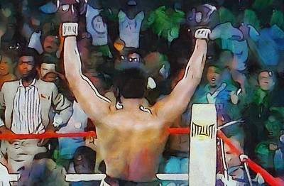 Boxer Painting - Rumble In The Jungle Ali Wins by Dan Sproul