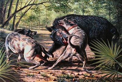 Arkansas Painting - Rumble In The Palmetto by Mike Roberts