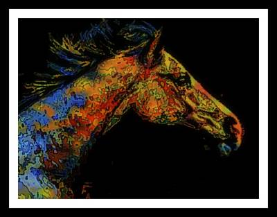 Horse In The Run Mixed Media - Run Like The Wind by Wendie Busig-Kohn