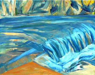 Run River Run Over Rocks In The Sun Original by Betty Pieper