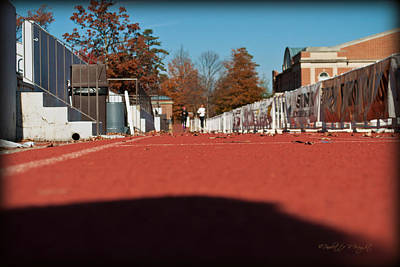 Paulette Wright Digital Art - Runners - Irwin Belk Track - Davidson College by Paulette B Wright