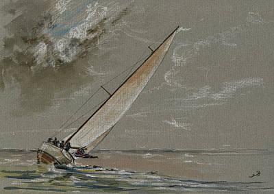 Running Away From The Storm Original by Juan  Bosco