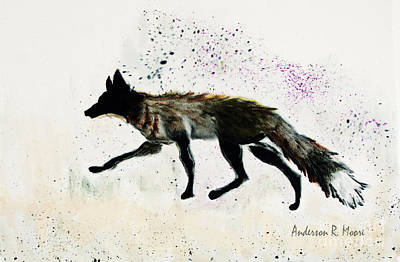 Painting - Running Fox by Anderson R Moore