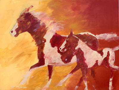 Pinto Painting - Running Paints by Ron Patterson
