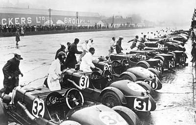 In A Row Photograph - Running Race Start by Underwood Archives