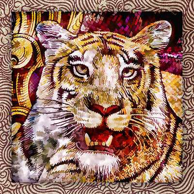 Rupee Tiger Print by Carol Leigh