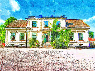 Rural Hotel In Sweden 2 Print by Yury Malkov