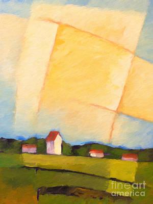 Baar Painting - Rural Landscape by Lutz Baar