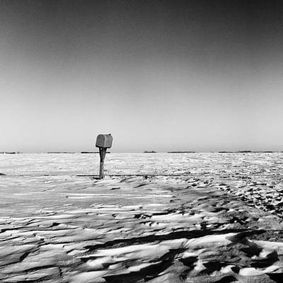 Mail Box Photograph - Rural Mail Box In Winter - North Dakota - Prairie by Donald  Erickson