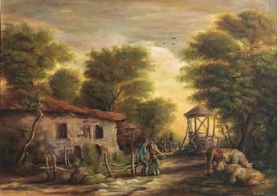 Tablou Painting - Rural Scene by Dan Scurtu