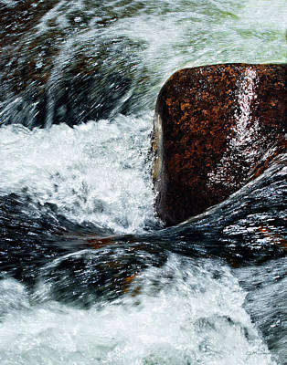 Rushing Water Print by Julie Magers Soulen