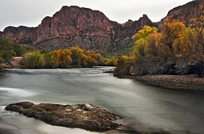 Lake Photograph - Rushing Waters Of The Salt River by Dave Dilli