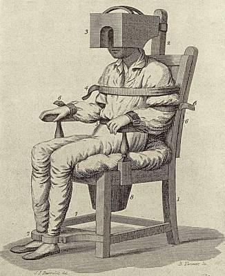 Rush's Tranquiliser Chair Print by American Philosophical Society