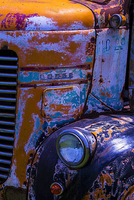 Broken Down Truck Photograph - Rusrty Old Dodge Truck by Garry Gay