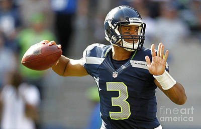 Russell Wilson 2014 Super Bowl Painting Print by Marvin Blaine