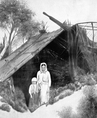 Babushka Drawing - Russia Peasants, 1921 by Granger