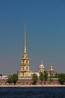 Russia, Saint Petersburg, Center, Neva Print by Walter Bibikow