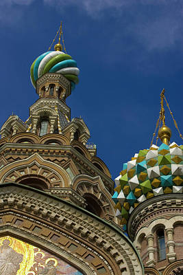 Savior Photograph - Russia, St Petersburg Towers by Jaynes Gallery