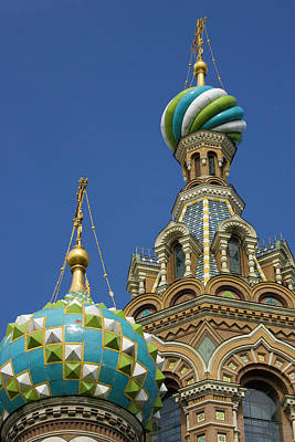 Savior Photograph - Russia, St Petersburg Two Towers by Jaynes Gallery