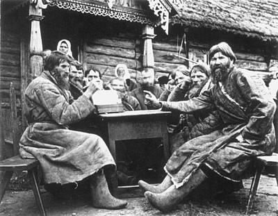 Babushka Photograph - Russia Village Elders by Granger