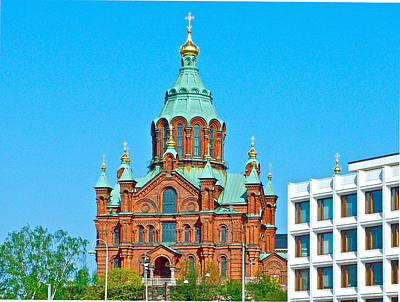 Helsinki Finland Digital Art - Russian Orthodox Church In Helsinki-finland by Ruth Hager