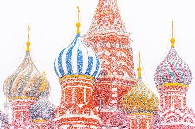 St Basils Photograph - Russian Winter by Alexander Senin